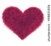 valentine fur pink heart ... | Shutterstock .eps vector #498831856