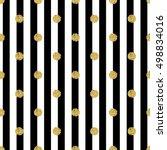 gold polka dot seamless gold... | Shutterstock .eps vector #498834016