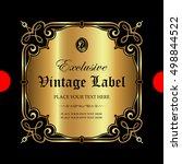 luxury ornamental label | Shutterstock .eps vector #498844522