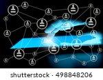 modern social media. concept of ... | Shutterstock . vector #498848206