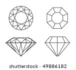 diamonds wireframe on white... | Shutterstock .eps vector #49886182