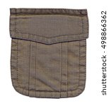 pocket of brown jacket... | Shutterstock . vector #498866362