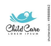 baby logo. baby care icon....