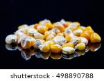 corn wheat heap  old sort ... | Shutterstock . vector #498890788