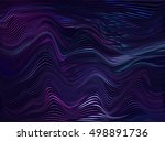 vector warped lines colorful... | Shutterstock .eps vector #498891736