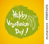 happy vegetarian day label
