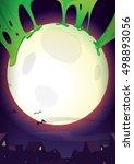 halloween night.realistic...   Shutterstock .eps vector #498893056