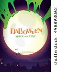 halloween night.poster for... | Shutterstock .eps vector #498893062