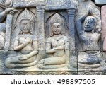 ancient bas relief at the... | Shutterstock . vector #498897505