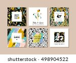 set of abstract creative cards. ... | Shutterstock .eps vector #498904522