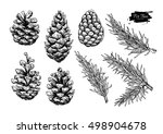 Pine Cone And Fir Tree Set....