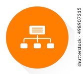 organization chart icon | Shutterstock .eps vector #498907315