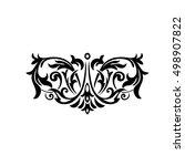 vintage baroque frame scroll...   Shutterstock .eps vector #498907822