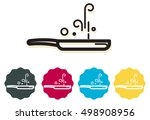 frying pan   icon | Shutterstock .eps vector #498908956