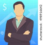 businessman. the vector image... | Shutterstock .eps vector #498916642