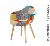 modern textile chair in... | Shutterstock . vector #498922072
