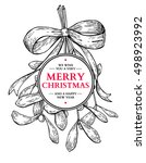 Mistletoe With Bow And Ribbon....