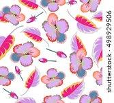 multicolor vintage vector... | Shutterstock .eps vector #498929506