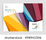 business abstract geometric... | Shutterstock .eps vector #498941506