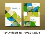 geometric design  business...   Shutterstock .eps vector #498943075