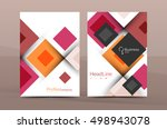set of front and back a4 size... | Shutterstock .eps vector #498943078