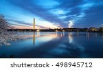 washington monument at night... | Shutterstock . vector #498945712