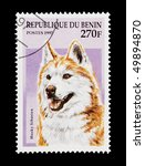 rep of benin   circa 1997  mail ... | Shutterstock . vector #49894870
