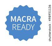 macra ready blue label  badge ... | Shutterstock .eps vector #498951136