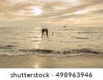 golden hour moment beautiful... | Shutterstock . vector #498963946