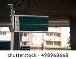 dark green direction board ... | Shutterstock . vector #498968668
