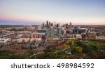 aerial view of downtown denver... | Shutterstock . vector #498984592