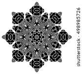 elegance hand drawn round black ... | Shutterstock .eps vector #498985726