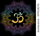 om symbol  aum sign  with... | Shutterstock . vector #499018276