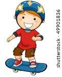 boy with skateboard   vector | Shutterstock .eps vector #49901836