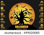 halloween infographic template. ... | Shutterstock .eps vector #499020085