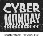 cyber monday sale bad photocopy ... | Shutterstock .eps vector #499023112