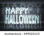 happy halloween message on an... | Shutterstock .eps vector #499023115