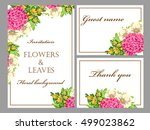 invitation with floral... | Shutterstock .eps vector #499023862