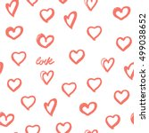 background hearts. great for... | Shutterstock .eps vector #499038652