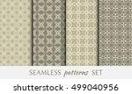 seamless geometric line... | Shutterstock .eps vector #499040956