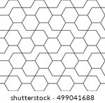 abstract geometric black and... | Shutterstock .eps vector #499041688