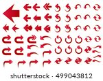 set of red arrows vector... | Shutterstock .eps vector #499043812