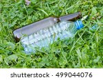 Plastic And Glass Bottle And...