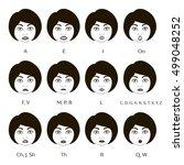 set of character lip sync | Shutterstock .eps vector #499048252