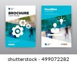 settings blue idea employee... | Shutterstock .eps vector #499072282