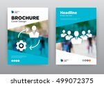 team blue people setting... | Shutterstock .eps vector #499072375