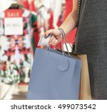 young woman shopping consumer