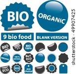 9 bio   organic stickers. vector | Shutterstock .eps vector #49907425