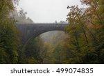 Vintgar Gorge In Autumn With...