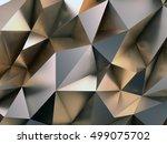abstract metal background 3d... | Shutterstock . vector #499075702